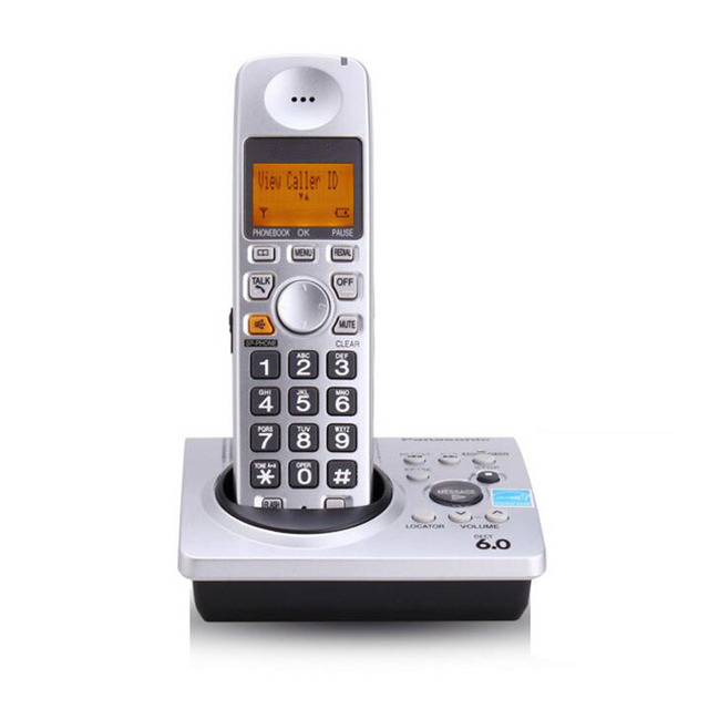 Dect 6.0 ID de Chamada Sistema de Telefone Sem Fio Fixo Sem Fio Telefone Sem Fio Digital Com Resposta Embutida Galo Correio de Voz Para O Escritório