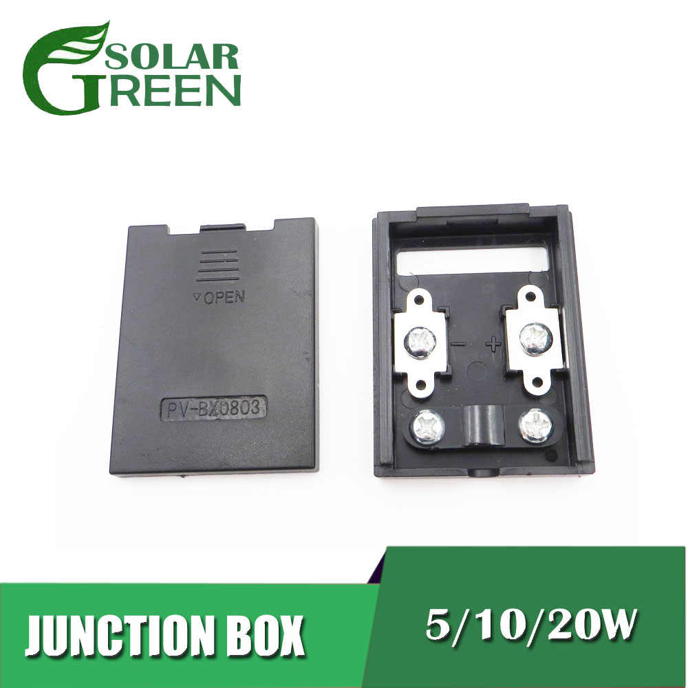5w 10w 20w Solar Junction Box For Solar Panel Connect Pv Junction Box Solar Cable Connection Connectors Aliexpress