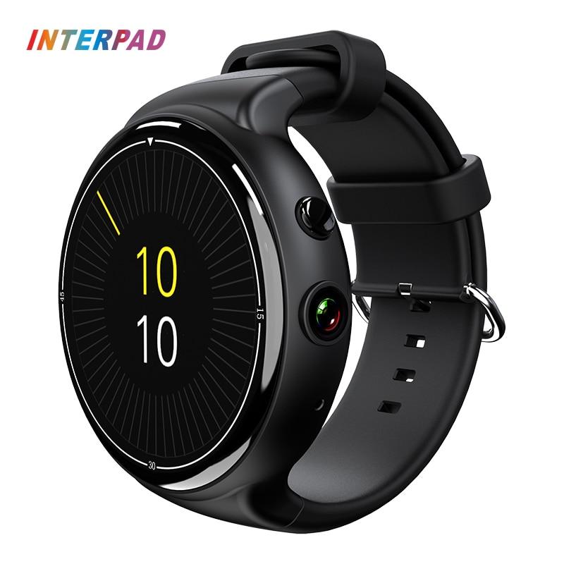 Interpad Haute Tech Android 5.1 OS Smart Montre i4 Air GPS Wifi 3G Téléphone Horloge Smartwatch 16 GB ROM 2 GB RAM Soutien App télécharger