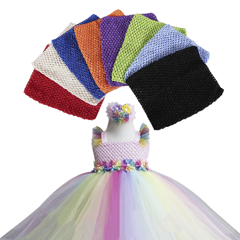 "9/"" Baby Girl Crochet Tutu Tulle Tube Tops Chest Wrap DIY tutu skirt Clothes"