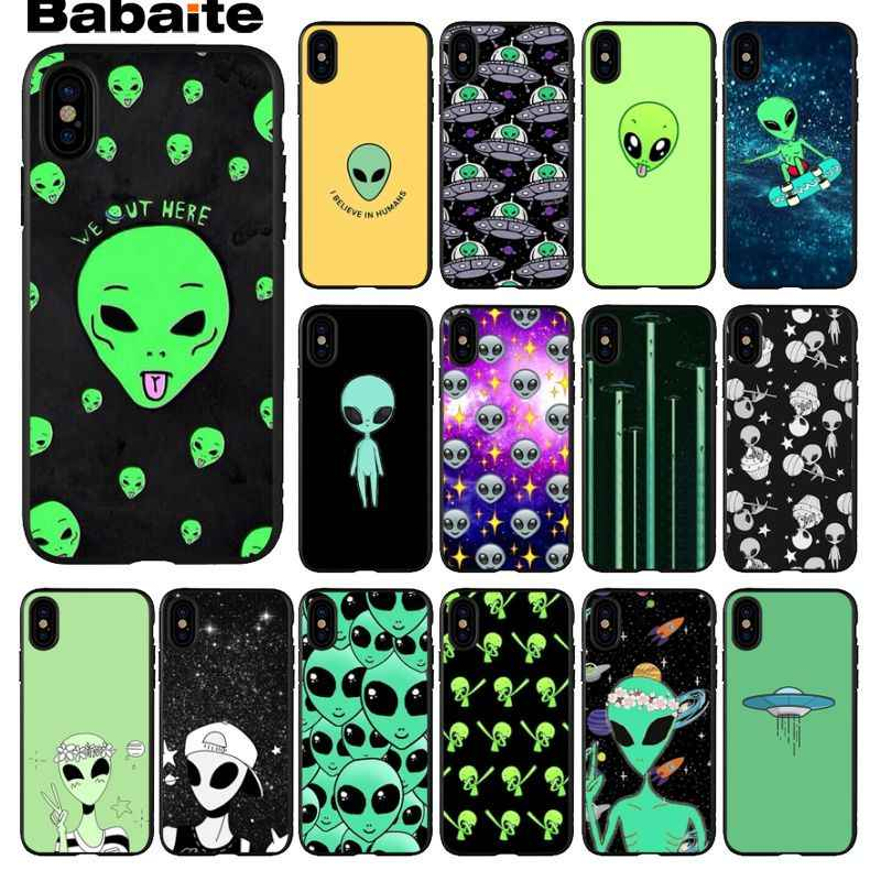Babaite alien space trip aesthetic Desert Painted Phone Accessories Case for iPhone X XS MAX  6 6s 7 7plus 8 8Plus 5 5S SE XR