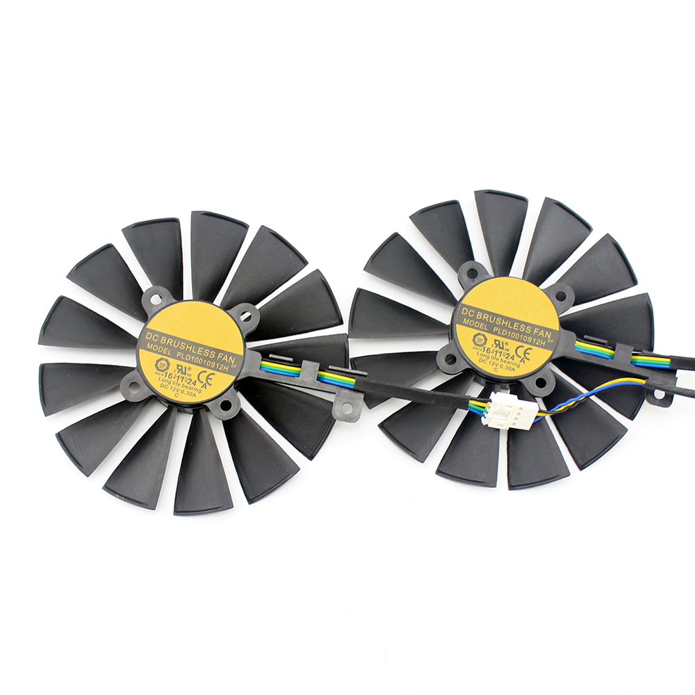 100MM 95MM 4Pin New PLD10010S12H Cooler Fan For ASUS ROG STRIX Dual RX 580 570 470 GTX 1050Ti GTX1080Ti Video Card Replacement