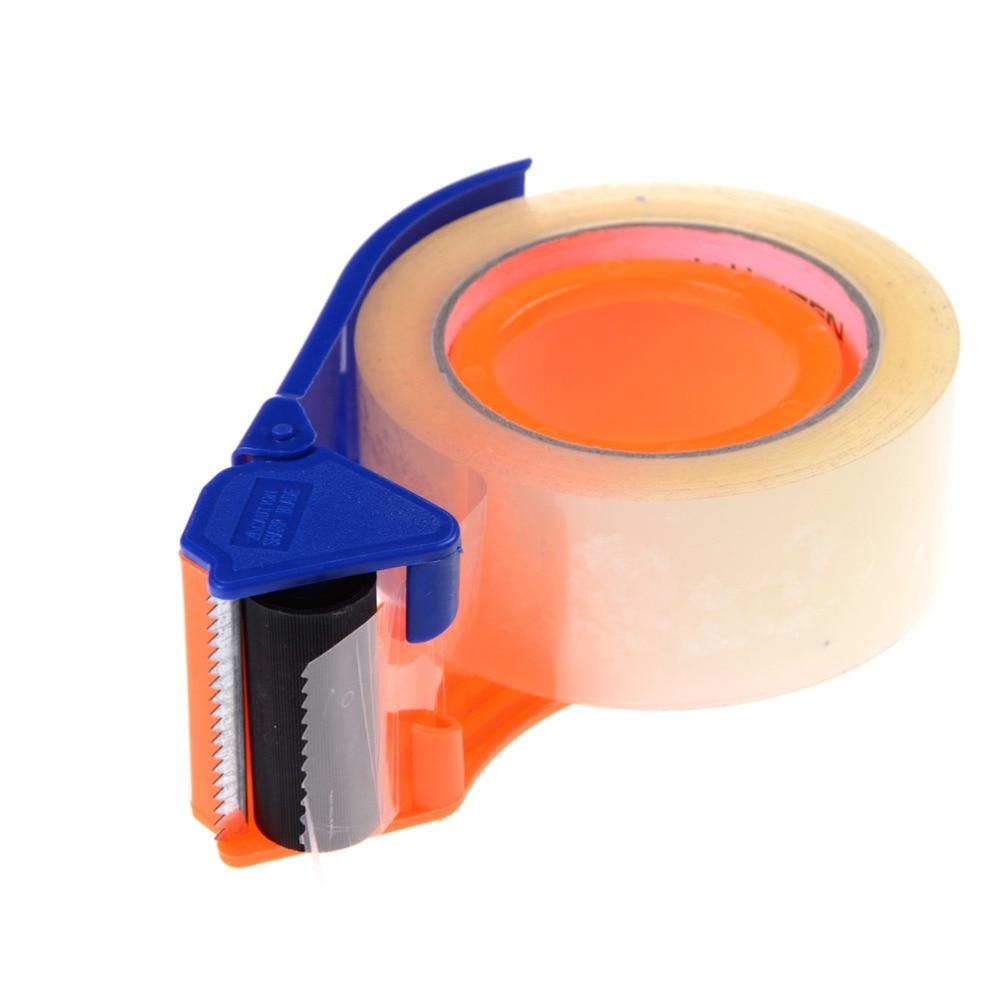 "Sealing 2"" Width Packaging Parcel Plastic Roller Tape Cutter Dispenser"