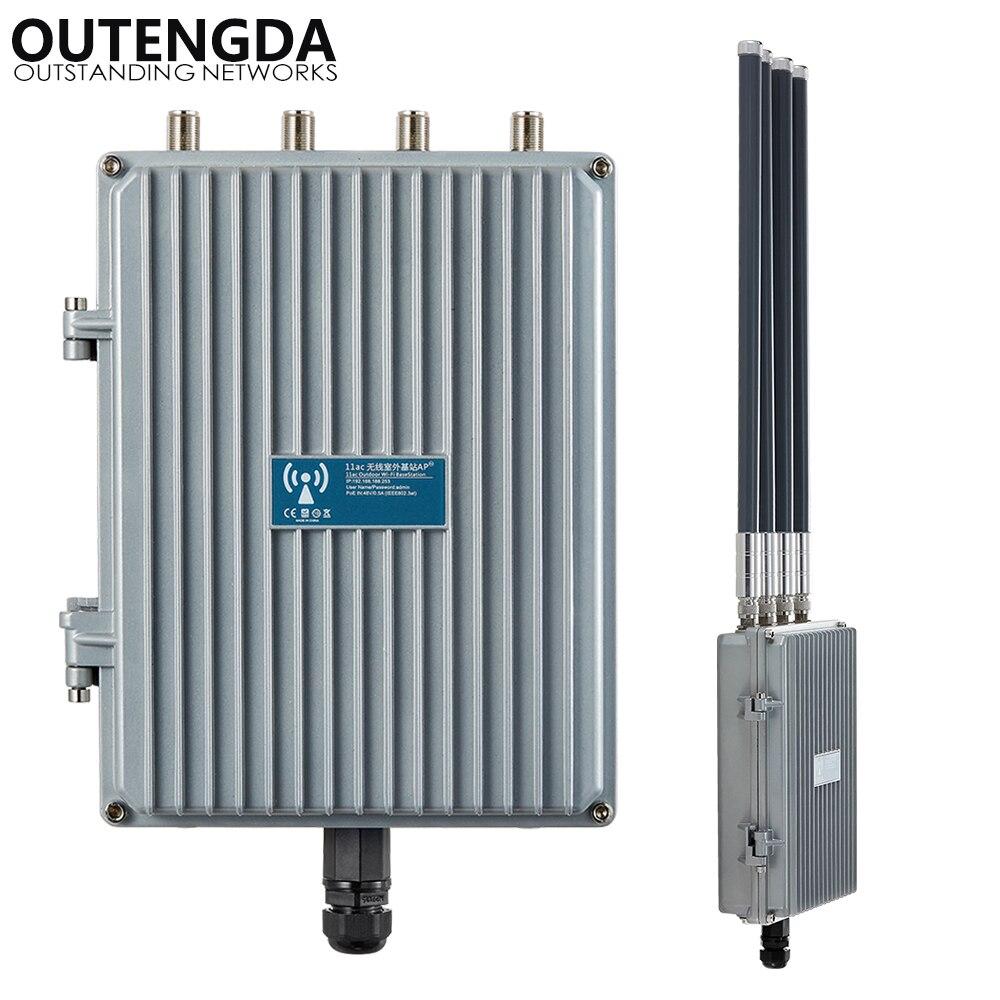Routeur haute puissance de point d'accès sans fil INTELLIGENT 802.11AC 5.8 Ghz 1200 Mbps pour le projet de couverture WIFI extérieure Booster de Signal AP