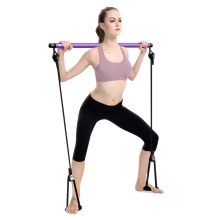 JUFIT Body Abdominal Resistance Rope Puller Multi functional Yoga Rally Rod  Pilates Stick Fitness Bar