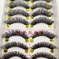 Maquiagem Cílios Postiços Maquiagem Natural Grossas Pestanas Falsas Cruz Sujo Confortável Cílios cílios postiços 1 caixa de 10 pares