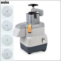 XEOLEO 2mm/4mm Vegetable Slicing machine 3mm/7mm Vegetable Shred machine for Potato/Cucumber/Radish/Fruit 50kg/h with 4 Blades