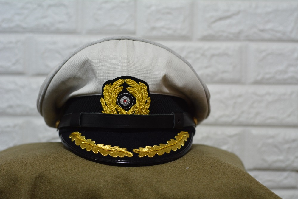 WW2 E M D navy White hat