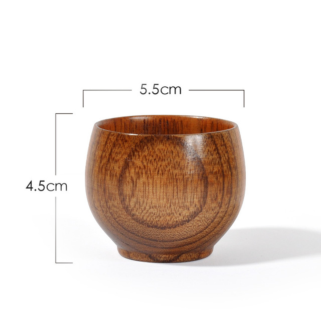 Wholesale Wooden Tea Sets Small Wooden Cups Small Cups Environment Friendly Wooden Cups With Customized Gift Feedback