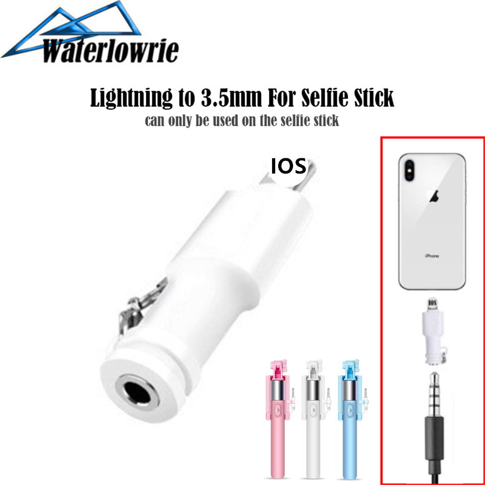 Selfie Stick 3.5mm mini AUX <font><b>Adapters</b></font> For Lightning to 3.5mm Jack <font><b>Adapter</b></font> For <font><b>iPhone</b></font> <font><b>7</b></font> 8 (Plus) X XR XS (Max) image