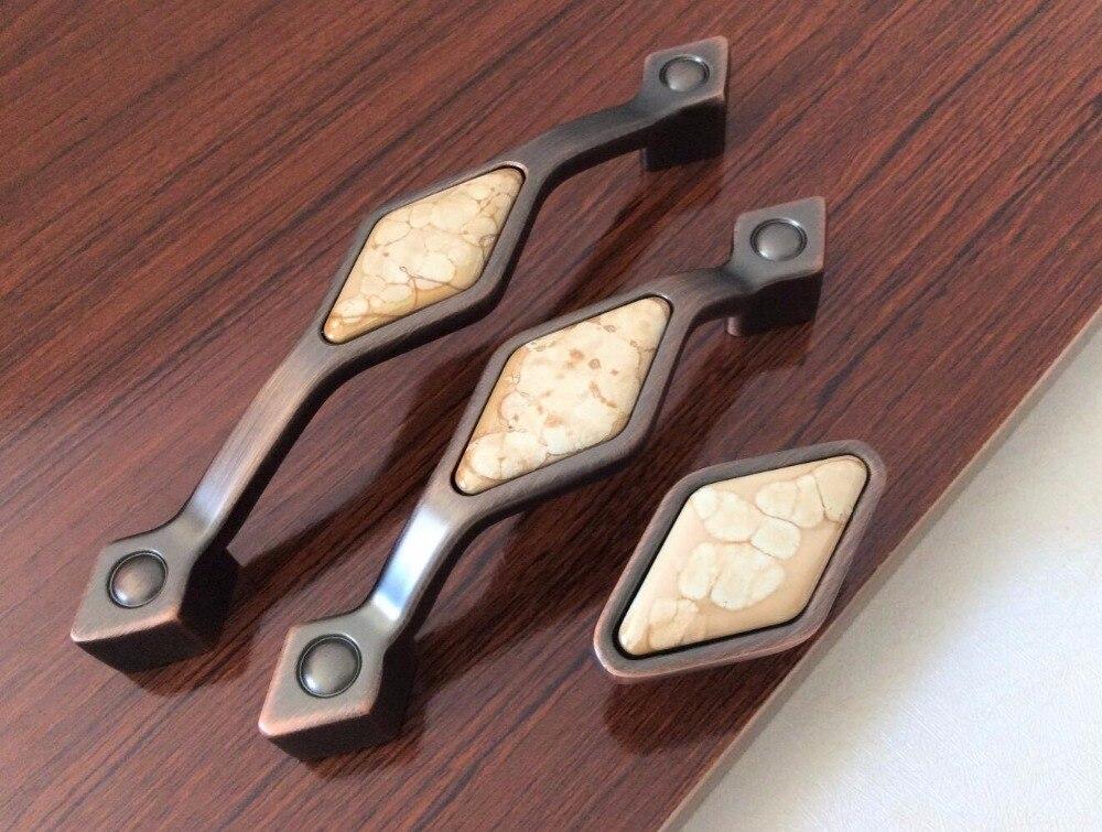 Único Crack Cerâmica Gaveta Do Armário Puxa Maçanetas Puxadores de Bronze Vermelho Alças/Puxadores de Armário Knob Hardware Cozinha