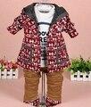 Оформление новых 2015 весной мальчик плед одежда наборы 3 шт. дети одежда наборы мальчики пиджак дети одежды мальчиков плед костюм комплект мальчика