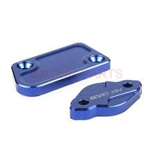 купить CNC Front & Rear Brake Reservoir Fluid Cover Cap Fit For  YZ125 YZ250 YZ250F YZ250X YZ250FX YZ450F онлайн
