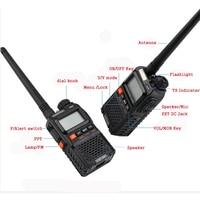מכשיר הקשר שני 2 PCS Baofeng UV-3R פלוס מיני מכשיר הקשר Ham שני הדרך VHF UHF רדיו תחנת משדר Boafeng סורק נייד ווקי טוקי (2)