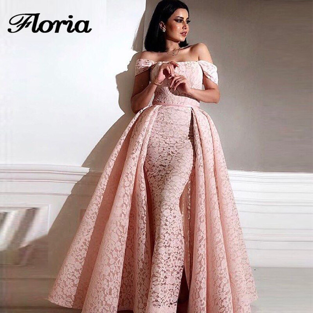 African New Mermaid Evening Dresses Detach Skirt Moroccan Kaftan Dubai Turkish  Arabic Aibye Prom Dress For Weddings Abendkleider e952a791decd