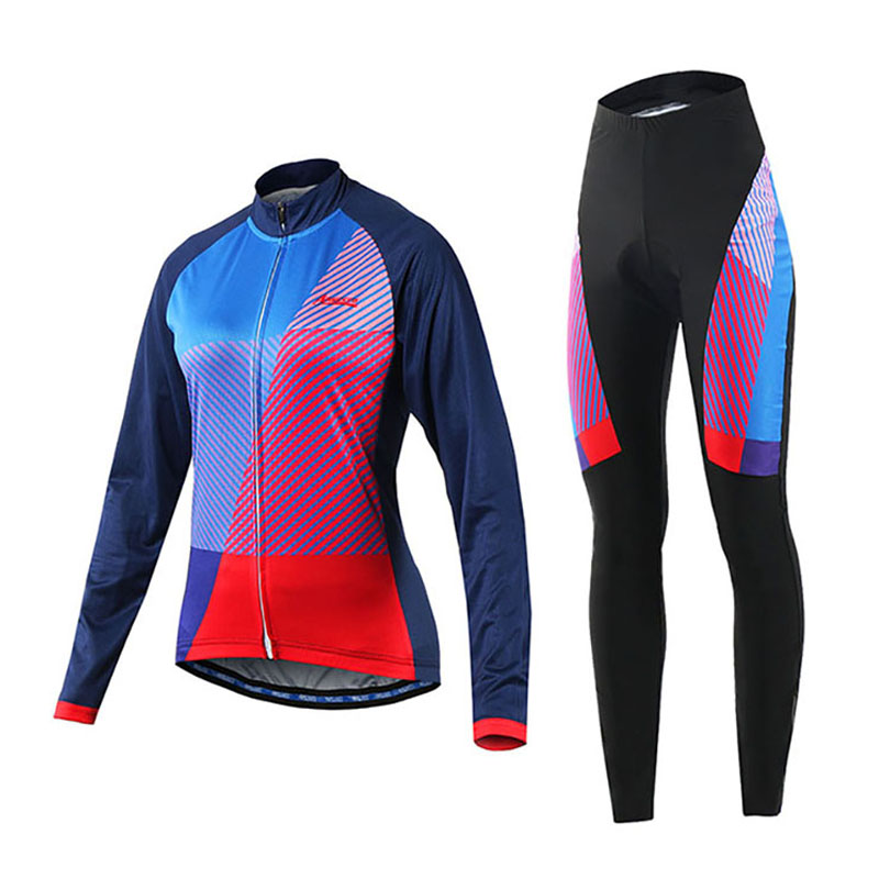Long Sleeve Cycling Jersey Sets Breathable Quick Dry Sportswear Mountain Bicycle Bike Cycling Clothing For Outdoor Sports cheji women mtb cycling jersey sets bike outdoor sportswear maillot clothing quick dry cycling clothing long sleeve jersey