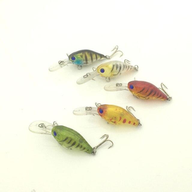 Высокое качество Новое поступление рыболовные приманки Crankbaits, партиями по 5 штук, 6 см-4,3g жесткие приманки пластиковые приманки рыба приманка снасти приманка для рыбы