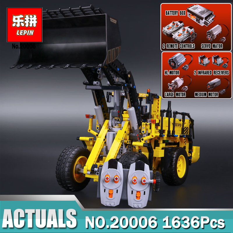 LEPIN 20006 technic series Volvo L350F wheel loader Model Building Kit Blocks Bricks Compatible with 42030 Educational Gift Toy lepin 20005 2793pcs technic series model building block bricks compatible with boys toy gift compatible legoed 42023