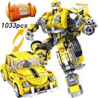 1033pcs legoings Transformation Robot Car 2in1 Bricks City Building Blocks Sets Creator Educational Technic DIY Toy For Children