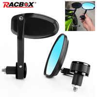 Racbox 1 paar moto rcycle spiegel Aluminium moto spiegel seite rück moto r spiegels für street bike moto rcycle zubehör