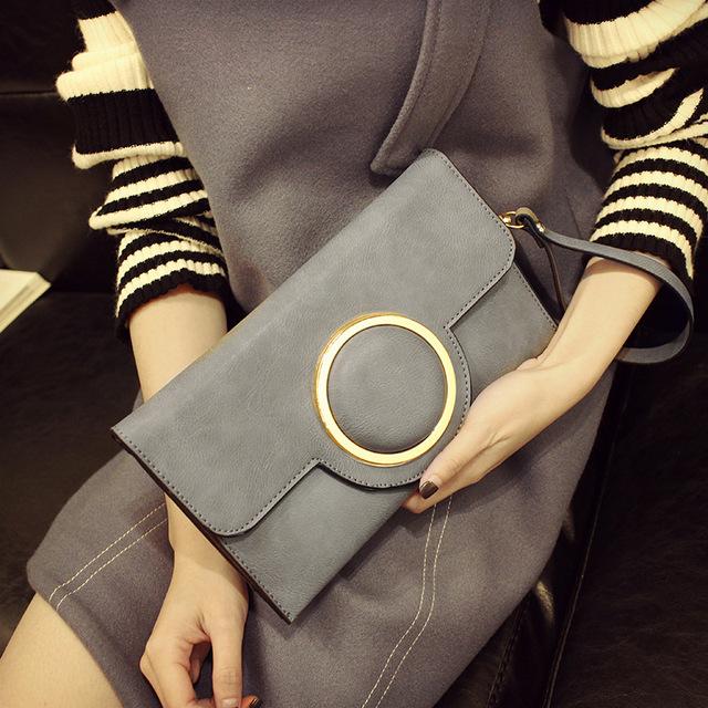 QIGER Fashion Women's Envelope Handbags  Party Bag Clutch PU Envelope Evening Bags Shining Women Clutch Bag