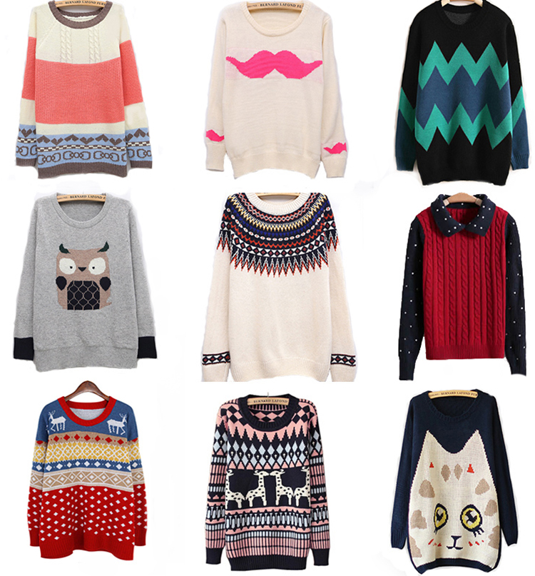 Aliexpress.com  Buy Spring 2014 women sweater o neck loose sweater pullover female hipster sweater from Reliable pullover sweater suppliers on Online Store