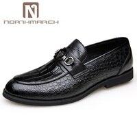 Northmarch новые Slip On Мужская деловая обувь одноцветное Туфли под платье обувь из натуральной кожи Для мужчин Мода Крокодил зерна Для мужчин Туф