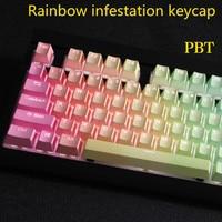 108 key PBT Double shot Backlit Regenboog Keycap Voor Corsair STRAFE K65 K70 Logitech G710 + Mechanische gaming Toetsenbord