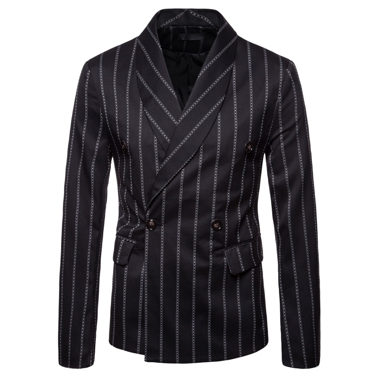 Mens Fashion Dance Brand Blazer Pattern Business Affairs Wedding Long Sleeve Stripe Suit Jackets Dropshipping Slim Top Coats