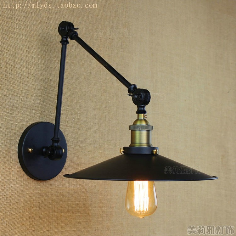 Retro Swing Long Arm Vintage Wall Lamp Lights Fixtures For Home Loft Style Industrial Edison Wall Sconce LED Stair Light Lampe фен philips bhd282 00