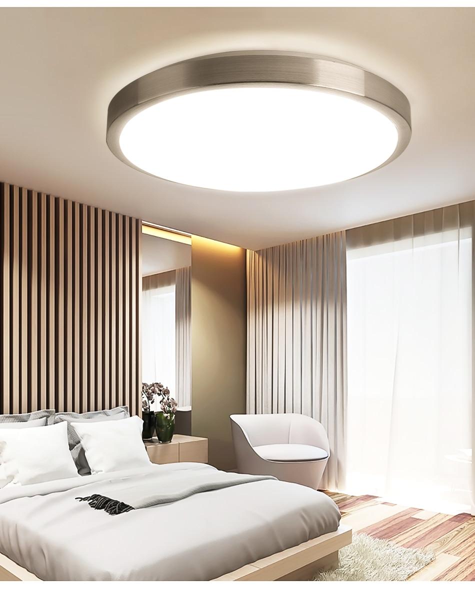 HTB1VpbraifrK1RjSspbq6A4pFXaW Ultra Thin LED Ceiling Lights Modern Lamp Living Room Bedroom Kitchen Lighting Fixture Surface Mount Remote Control