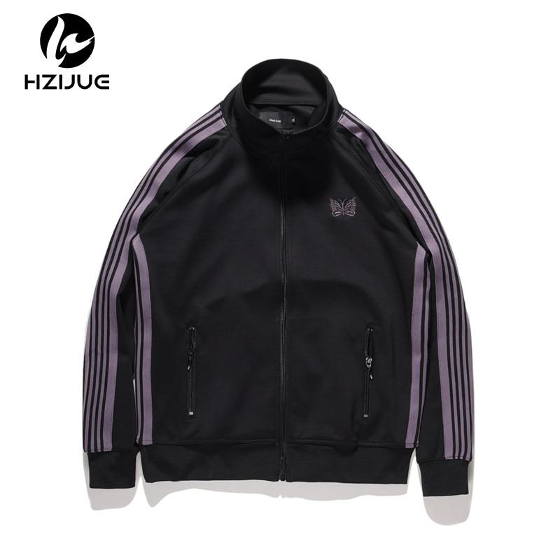 Embroidery Stand Collar Vintage Hip Hop Jacket Men 2018 Autumn Streetwear Regular Jacket Men
