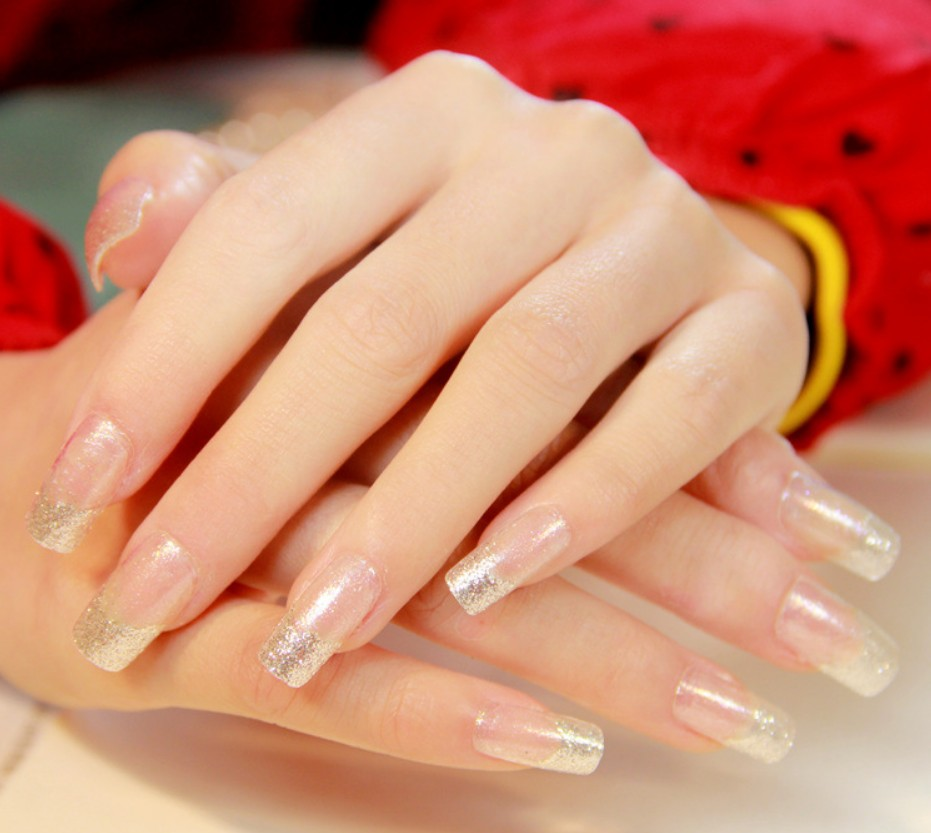 Designs False Nails With Glue Long French Nail Art Tips Acrylic Full ...