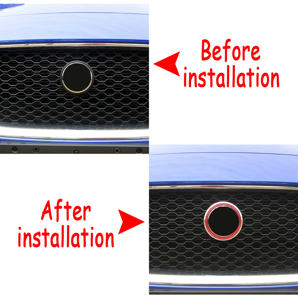 for Jaguar XE XF XE XF F-PACE Car Emblem Stickers Aluminum Alloy Decoration Ring Sticker Decals