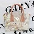 Kalanti GARNAMD Map Pack 2016 new fashion handbags laptop bag Crossbody Bag face