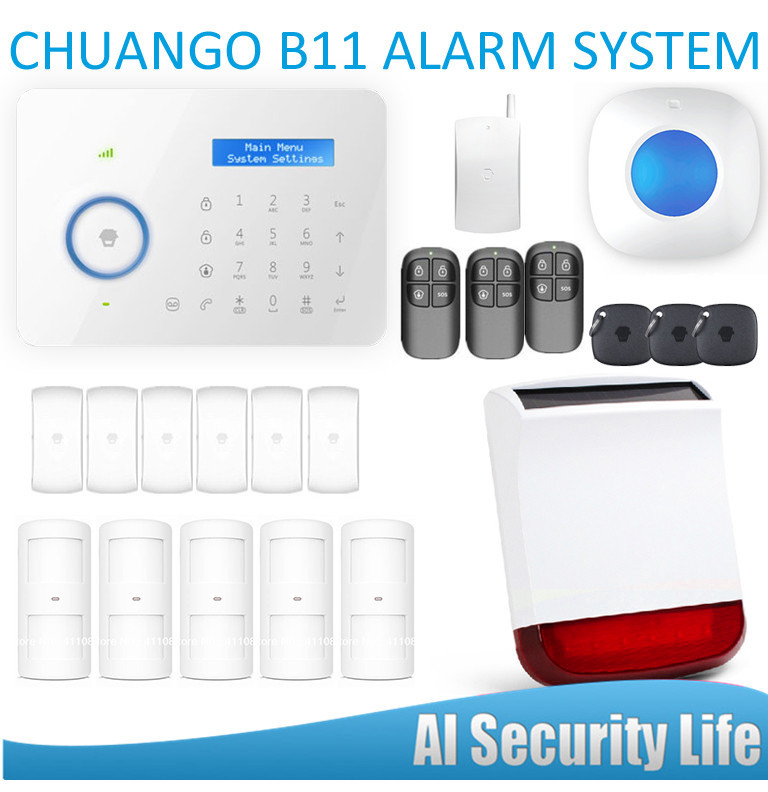 APP Control Wireless PSTN GSM Home Burglar Security Alarm System Detector Sensor fuers quad band gsm pstn burglar alarm security system wireless app control high grade door sensor motion detector home alarm