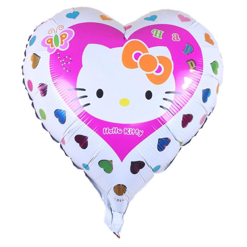Горячая Распродажа 18 дюймов KT Фольга украшения из воздушных шаров на день рождения воздушные шары детские игрушки, принадлежности для вечеринок - Цвет: B
