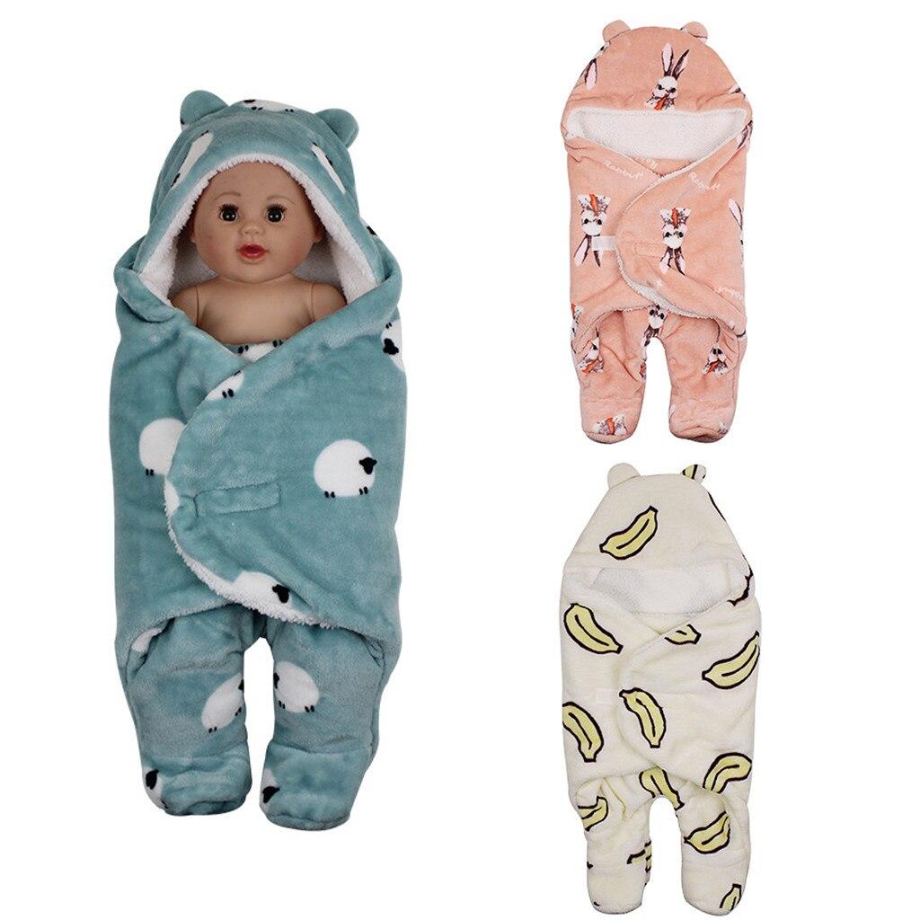 Baby Sleeping Bag Infant Baby Boy Girl Wrap Swaddle Outdoor Baby Warm Blanket