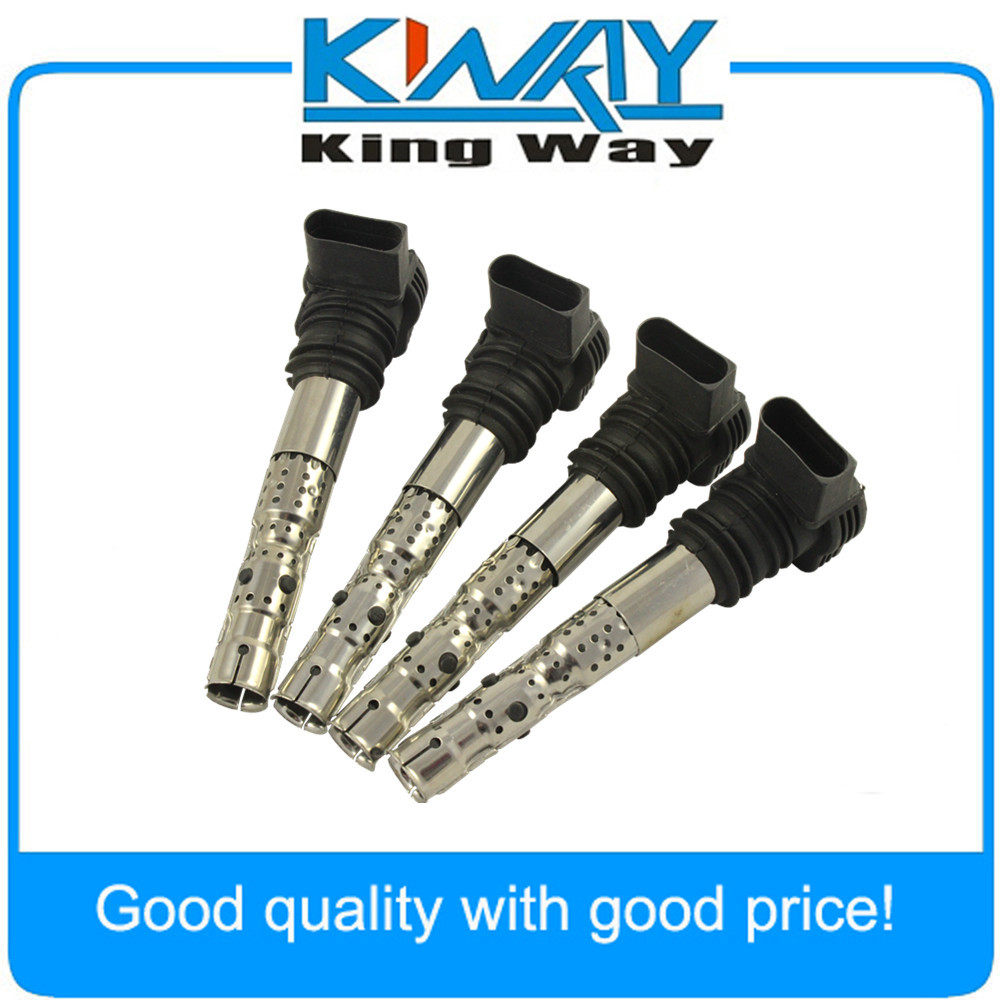 Set of 4 Kits Electrical Connector of Ignition Coil UF411 FIts Audi VW L4 1.8L