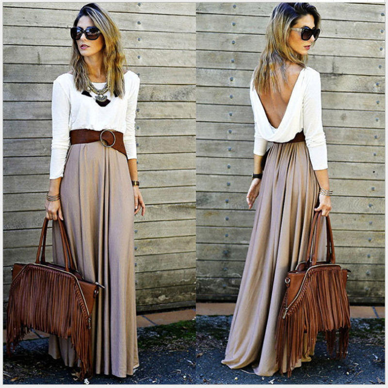 Women Lady Sexy Summer Dresses Boho Chic Maxi Long Sleeve Brief Cocktail Party Dress Clothes Robe Mori Girl