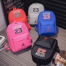 f3608d75bd5 2018 NEW Fashion Jordan 23 School Backpack Hot Star Oxford School Bag for  Girls Boys Couples