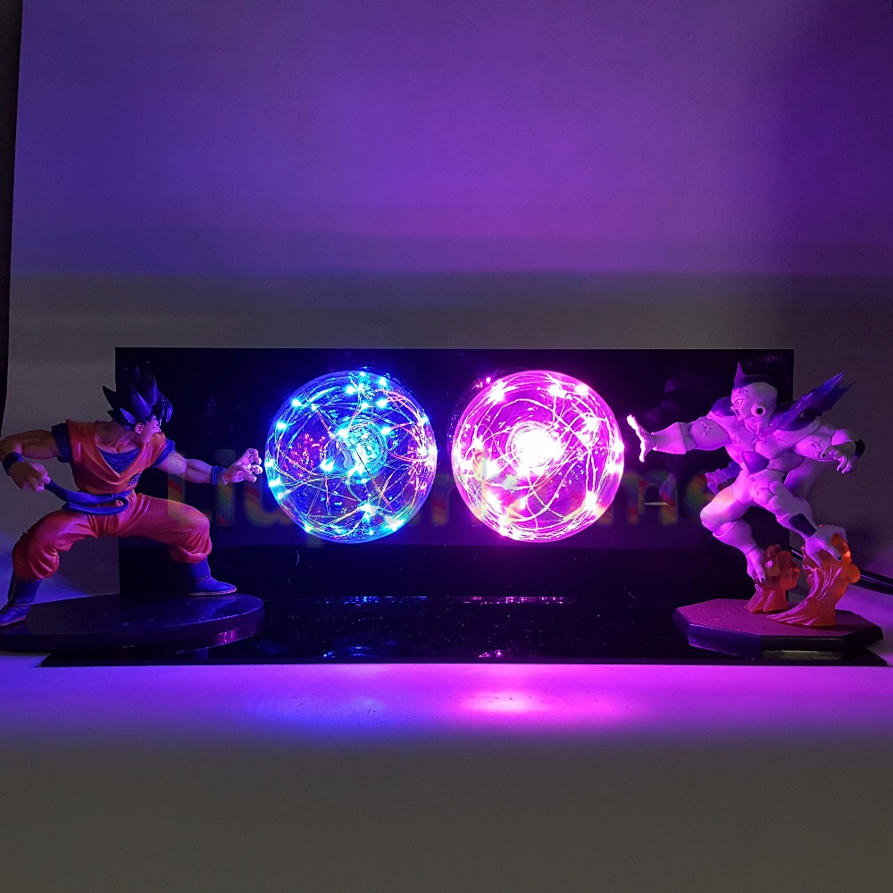 Dragon Ball Z Son Goku VS Freezer Luminaria LED Night Lights Anime Dragon Ball Super Figurine Toy DBZ Led Luce Lampada Da Tavolo