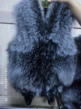 55 cm long real fox fur vest