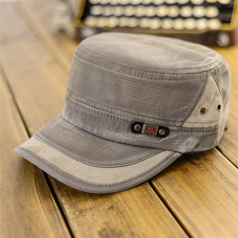 Sports & Entertainment Golf Flat-top Canvas Baseball Cap Color Block Vintage Military Unisex Hat