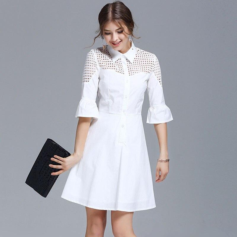 Popular White Flare Shirt Dress-Buy Cheap White Flare Shirt Dress ...