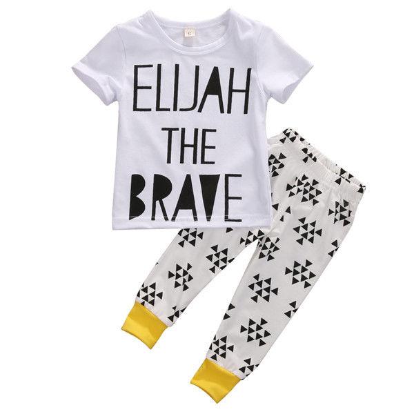 Kids Baby Toddler Boys font b Girls b font Short Sleeve T Shirt Top Long Pants