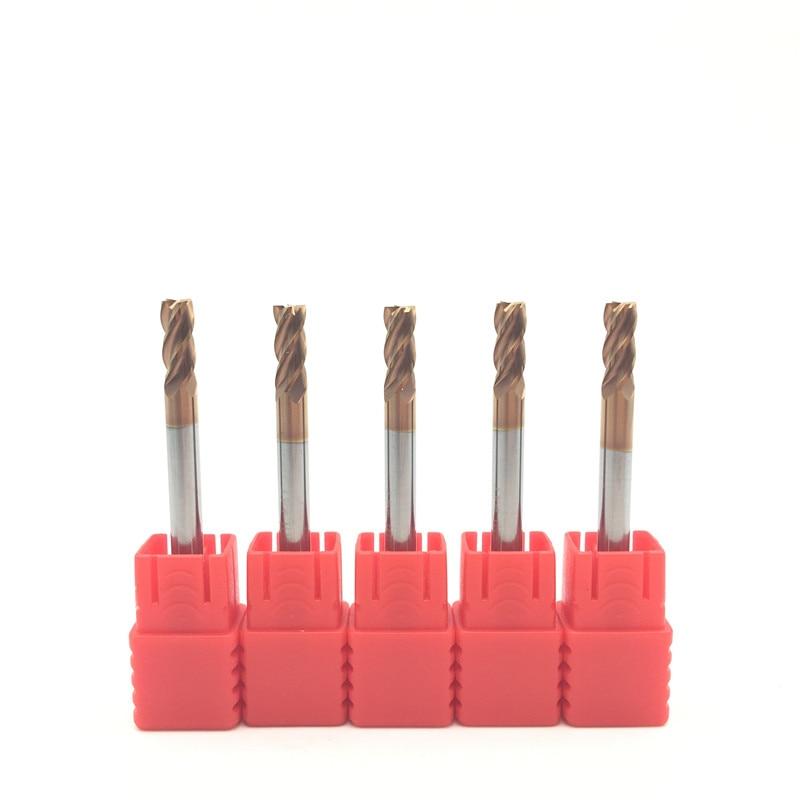 5PCS HRC60 4mm Solid Carbide Endmills ENDMILL D4X11XD4X50L 4 Flute Standard Length Side milling Slotting Profiling face mill