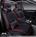 Para Opel Astra Zafira Insignia Ampera rojo negro suave impermeable de la pu asiento de coche de cuero cubre marca front & rear fundas de asiento completo