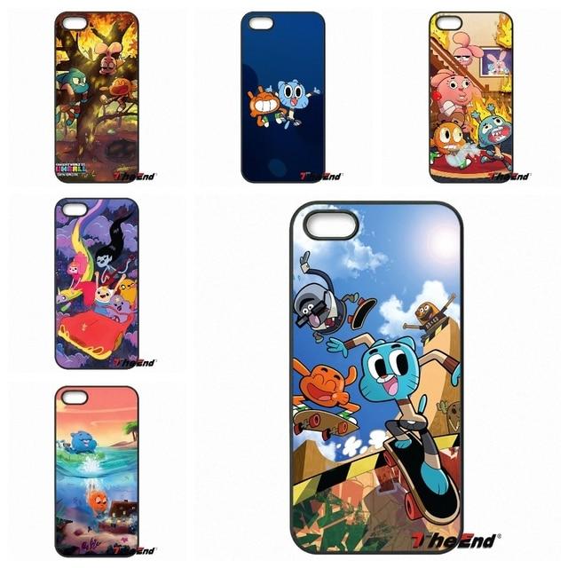 3846656b1f The Amazing World of Gumball Phone Case Coque For iPhone X 4 4S 5 5C SE 6  6S 7 8 Plus Galaxy J5 J3 A5 A3 2016 S5 S7 S6 Edge