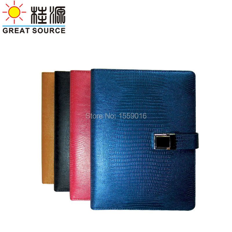 Binder Folder Padfolio Leather File Folder Multifunction Clear Pen Bag Gift Set For A5 Binder Notepad Crocodile Veins Leather
